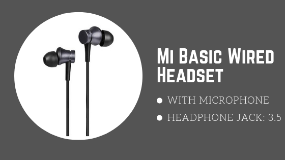 MI Basic Wired Headset with Mic - best selling earphones
