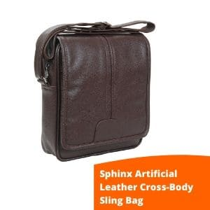 Sphinx Artificial Leather Sling Bag