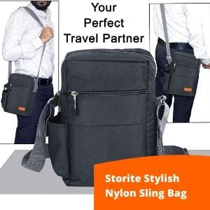 Storite Stylish Nylon sling bag