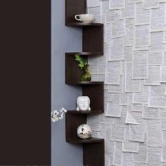 diy home decor ideas living room - Furniture Cafe Zigzag Corner Wall Mount Shelf