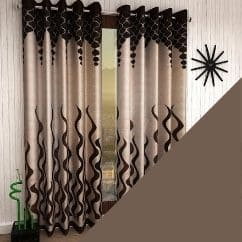 Home Sizzler Eyelet Polyester Curtains