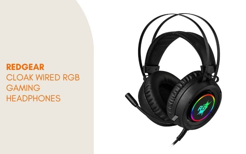 best headset for pubg under 1000 - Redgear Cloak Wired RGB gaming headphones